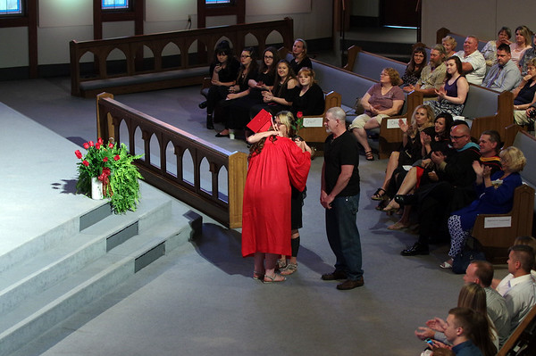 Mark Maynard | For The Herald Bulletin<br /> Liberty Christian held their graduation on Saturday.