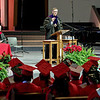 Mark Maynard | For The Herald Bulletin<br /> The LIberty Christian High School Class of 2017 is addressed by Anderson University President John Pistole during commencement ceremonies on Saturday at the East Side Church of God.