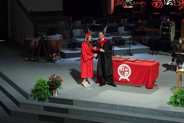 Mark Maynard | For The Herald Bulletin<br /> Liberty Christian held their graduation on Saturday.