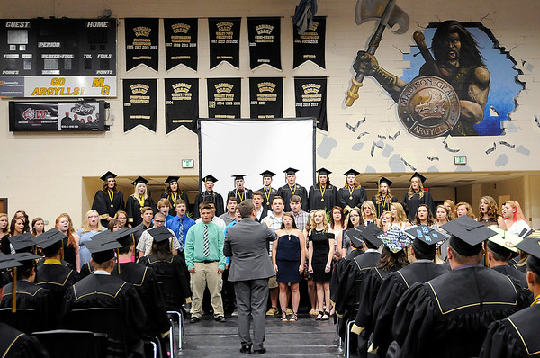 Don Knight | For The Herald Bulletin<br /> Madison-Grant graduation on Friday.
