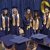 "Mark Maynard | for The Herald Bulletin<br /> A quintet sings ""Shenandoah"" at commencement on Sunday afternoon at Shenandoah High School."