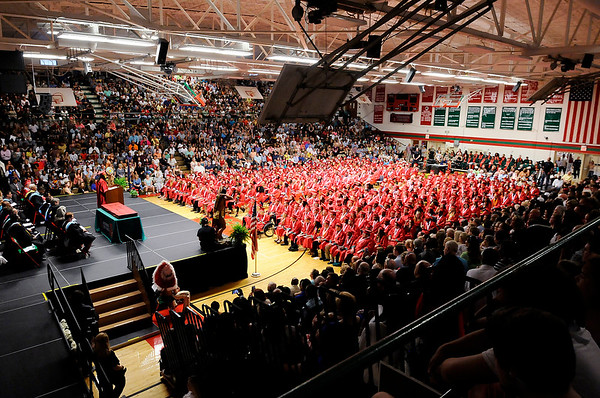 Don Knight   The Herald Bulletin<br /> Anderson High School graduation on Tuesday.