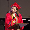 Liberty Christian Class of 2018 Valedictorian Emily Coulter delivers her commencement address during graduation ceremonies on Saturday afternoon.