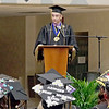 Mark Maynard | for The Herald Bulletin<br /> Madison-Grant Class of 2018 Valedictorian Bryce Miller delivers his address during commencement exercises on Friday evening.