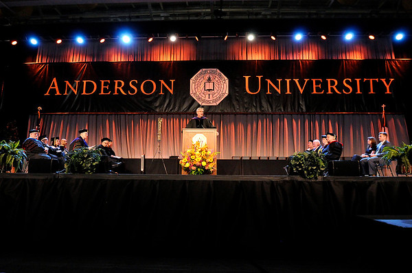 Don Knight   The Herald Bulletin<br /> Anderson University held their 101st Commencement on Saturday.