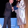 APA Graduating Senior Aliyah Paige Sawyer receives her diploma from Director Steve White.  (Mark Maynard photo)