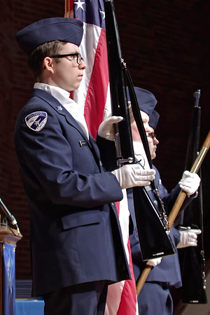 The APA Color Guard present the colors at commencement ceremonies. (Mark Maynard photo)