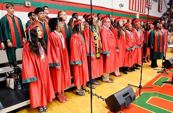 Don Knight   The Herald Bulletin<br /> Anderson High School held their Commencement on Tuesday.