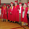 A group of Frankton Class of 2019 graduates poses for photos following graduation on Sunday afternoon. (Mark Maynard photo)