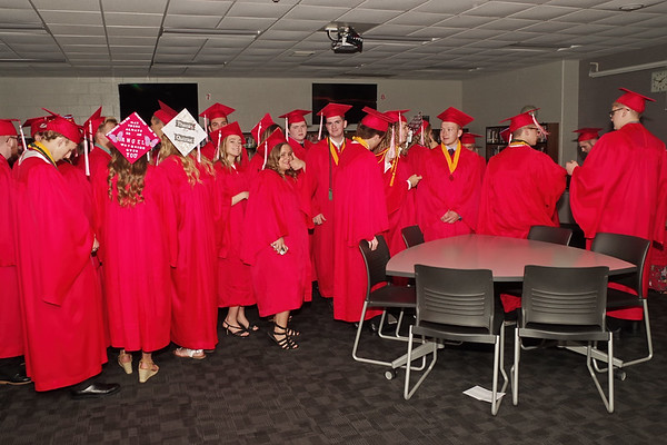 The Frankton High School Class of 2019 is ready to get their Commencement under way. (Mark Maynard photo)