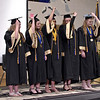 The officers of the Madison-Grant Class of 2019 lead their classmates in the turning of the tassels. (Mark Maynard photo)
