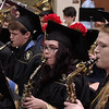 Graduating Senior Madison-Grant band members play one last time during commencement. (Mark Maynard photo)