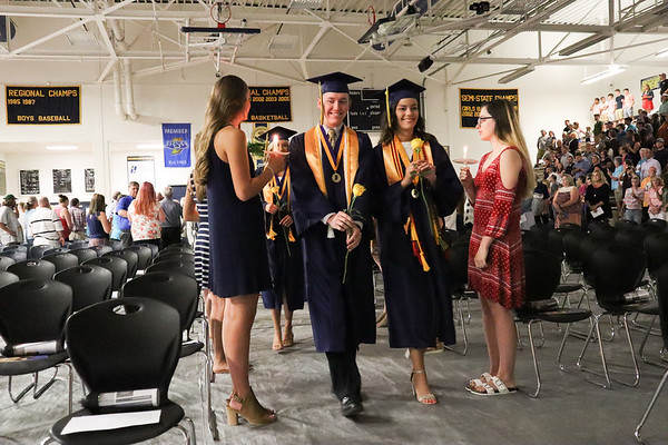 Photo by Chris Martin for The Herald Bulletin.  Shenandoah held it's 2019 Graduation ceremony on Sunday June 2, 2019.