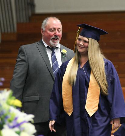 Photo by Chris Martin for The Herald Bulletin.  Shenandoah High School held it's graduation ceremony Sunday June 2, 2019.