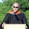 Alexandria High School Principal Tom Johns address the graduates during Commencement.