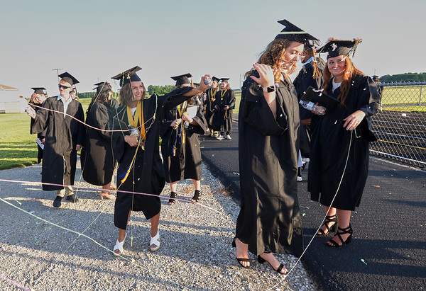 The Class of 2020 keep the Argylls' Silly String tradition alive during Madison-Grant's graduation on Friday.