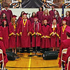 """Senior Choir Members, joined by the Crescendoz Choir Members perform """"Found Tonight"""" during Alexandria Monroe High School Commencement on Saturday evening."""