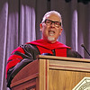 Reverand Doctor Rodney K. Stafford delivers his Commencement Address during Saturday's ceremonies at Anderson University.