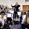 """Toni Bays leads the Lapel High School Band in the playing of """"Pomp & Circumstance"""" at the Lapel High School graduation."""