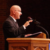 Anderson Preparatory Academy Director Steve White Welcomes graduates, their families and friends to commencement ceremonies at Reardon Auditorium on Sunday.