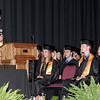 Mark Maynard | For The Herald Bulletin<br /> Valedictorian Brandon Vermillion addresses his Dalville High School classmates during graduation ceremonies Friday evening in the school gymnasium.