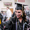 Don Knight | The Herald Bulletin<br /> Students are covered in Silly String after the Argylls let loose with several cans after turning their tassels.