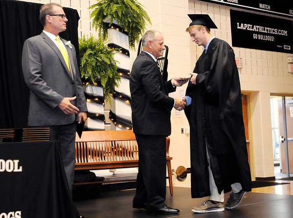 Don Knight   The Herald Bulletin<br /> Lapel graduated 108 students on Saturday.
