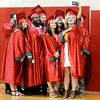 Don Knight | The Herald Bulletin<br /> Graduates pose for a selfie as they wait for the start of Anderson High School's graduation on Sunday.