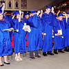 Mark Maynard | for The Herald Bulletin<br /> The Elwood High School Class of 2016, 82 members strong, turn their tassels symbolizing their transformation for students to graduate alumni.