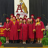 "Alexandria-Monroe High School Senior Choir Members perform ""Seasons of Love""during Commencement."