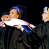 Andrea Morehead Allen, center,  was bestowed a honorary Doctor of Humane Letters degree during Anderson University's Commencement exercise Saturday.