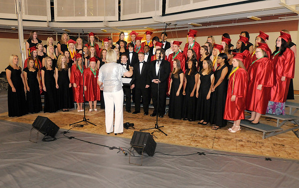"""The Anderson High School Choral Department performs """"Seasons of Love."""""""