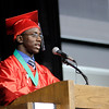 Class President Grerayle Walton gives his remarks.