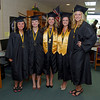 This group of Senior Class ladies is ready to march to graduation ceremonies at Daleville High School.
