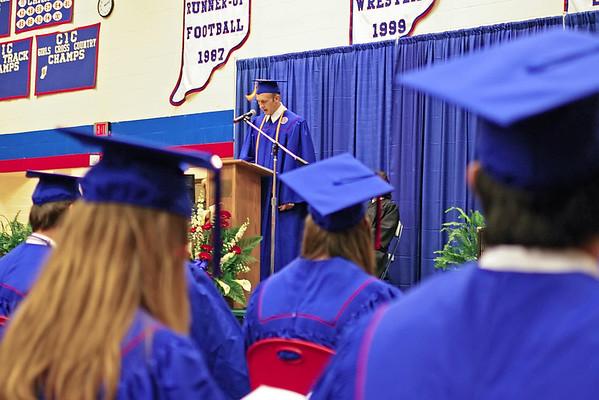 Salutatorian Joel Moser addresses his classmates.