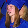 Heather Manship shows her emotions as she sings with the choir for the final time.