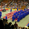 The Elwood High School Class of 2012 marches into the gymnasium during the commencement processional.