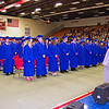 The Elwood High School Class of 2012 assembled for their commencement ceremony.
