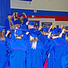Senior Class President Alexa Middlesworth leads the graduates in the Changing of the Tassel.