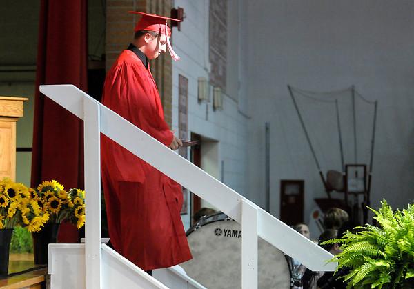 Don Knight   The Herald Bulletin<br /> Frankton graduation at the High School on Friday.