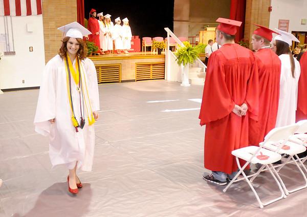 Don Knight | The Herald Bulletin<br /> Frankton graduation at the High School on Friday.