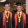 Frankton High School salutatorian Ryan Dean Willmann and valedictorian Jacob Arthur Pruitt pose for a photo prior to the 2012 commencement.