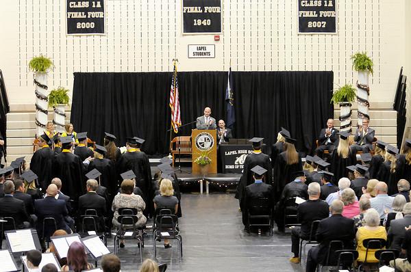 Don Knight | The Herald Bulletin<br /> Lapel High School graduation on Saturday.