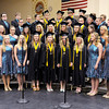"Don Knight | The Herald Bulletin<br /> The Lapel High School Show Choir performs ""Maybe Someday"" during graduation on Saturday."