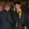 Boston Fields gets well wishes after receiving his diploma.