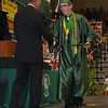 Pendleton Heights High School Senior Joshua Beeson receives his diploma at commencement on Sunday.