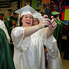 "Taylor Gimple snaps a ""selfie"" with Cecelia Westbrook prior to Pendleton Heights High School commencement."