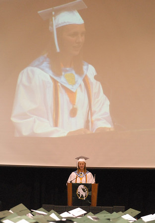 Valedictorian Abigail Haffner addresses the 2012 senior class.