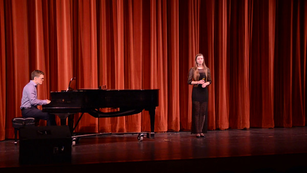 "Allie Smith singing ""The Lonely"" accompanied by Jonathan Hooper on piano. Green & White 2015 Saturday night performance."