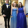 Groton-Dunstable pre-prom gathering at the high school. From left,Thomas Cote of Groton, Hannah Crooks of Hampton, N.H., and Leah Pettee of Dunstable. (SUN/Julia Malakie)